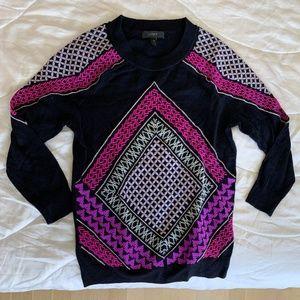 J.CREW Merino Wool Knit Patterned Sweater